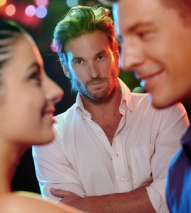 jealous men jealous over girlfrend talking to another man