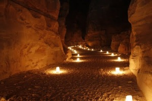 lighted path candle hope